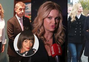 Monika Babišová v neformálním outfitu doprovázela svého muže Andreje při návštěvě francouzského prezidenta Emmanuela Macrona v Praze