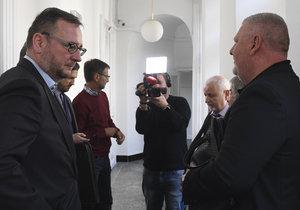 Pokračování soudu kvůli tzv. trafikám pro poslance ODS. Na snímku lobbista Ivo Rittig (vpravo) a expremiér Petr Nečas (vlevo) (30. 10. 2018)