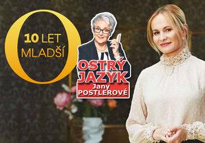 Co řekl ostrý jazyk Jany Postlerové o moderátorce nového pořadu O 10 let mladší Monice Absolonové?