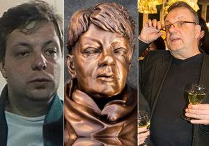 Milan Šteindler promluvil o své údajné podobě se sochou Věry Špinarové.