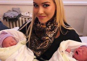 Dominika Myslivcová se svými synovci, dvojčaty Markusem a Matiasem.