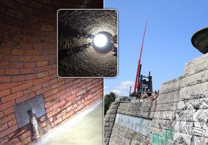 Pod Letnou je v hloubce 45 metrů pod povrchem vedena jedna ze stěžejních stok pražské kanalizace.