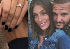 Slovenský rapper Rytmus požádal svou přítelkyni Jasminu Alagič o ruku.
