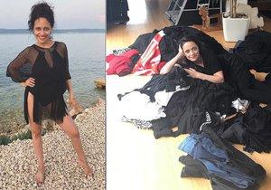 Lucka Bílá rozprodává svůj černočerný šatník