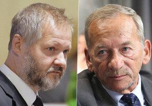 Trojice, která měla největší šanci - Václav Hampl (vlevo), Jaroslav Kubera (uprostřed) nebo Jan Horník (vpravo). Nakonec post získal Jaroslav Kubera.