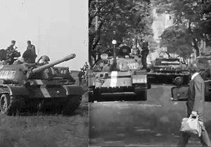 Dosud nezveřejněné záběry tanků ze srpna 1968.