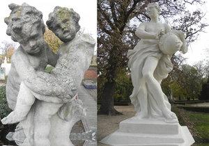 V zámeckém parku se stal malý zázrak: Sochy ve Slavkově dávají do gala