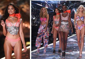 Krásná Shanina a její zářez na přehlídce Victoria's Secret