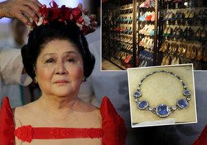 Bývalá první dáma Filipín byla shledána vinnou z korupce. Marcosová proslula obrovskou sbírkou bot a šperků.