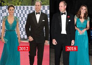 Vévodkyně Kate vynesla po šesti letech stejné šaty.