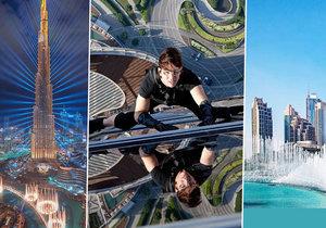 11 největší zajímavostí o mrakodrapu Burdž Chalífa: Design je podle květiny, Tom Cruise z něj visel na laně a Armani si v něm zařídil hotel!