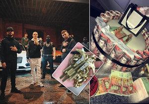 Albánský drogový gang se na Instagramu chlubí svým bohatstvím.