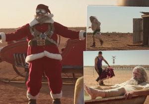 Santa Claus v reklamě ztroskotá v poušti. Dočká se však dojemné pomoci místních