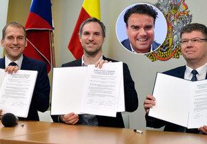 Pražská koalice podepsala koaliční smlouvu.