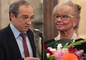 Ceny ÚSTRu v Senátu: Odnesli si je ruský disident Alexandr Podrabinek i Daňa Horáková, někdejší spolupracovnice Václava Havla.