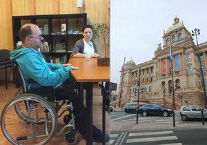 Tomáš a Katka bojují za bezbariérovost v Praze.