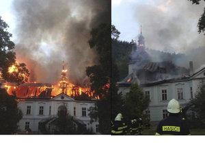 Požár zámku v Maršově na Trutnovsku měl být založen úmyslně.