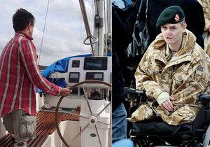Veterán přišel v Afghánistánu o obě nohy a ruku. Nyní na své jachtě cestuje kolem světa.