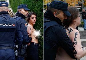 Polonahé aktivistky Femen narušily v Madridu frankistickou manifestaci