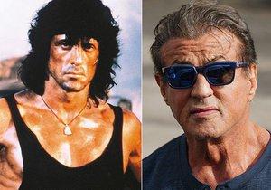 Sylvester Stallone od dob prvního Ramba trochu zestárnul...