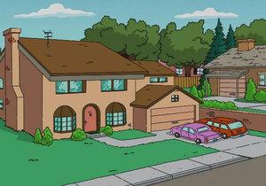 Původní verze domku Simpsonových