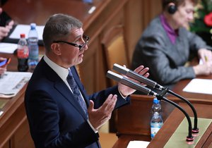 Andrej Babiš v Poslanecké sněmovně