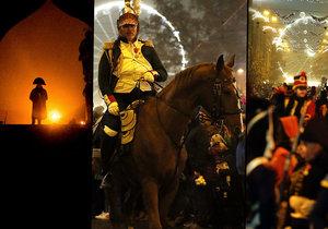 Triumfální pochod Napoleona centrem vánočního Brna.