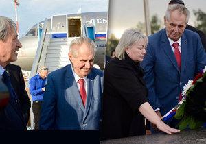 Prezident Miloš Zeman s manželkou Ivanou na státní návštěvě Izraele (25. 11. 2018)