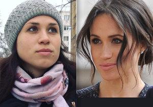 Skutečná Meghan a její ruská dvojnice.