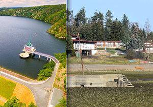 Tohle jste přes 50 let neviděli. Hracholuská přehrada vyschla a odhalila vojenský bunkr.