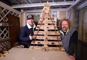Věčný pohádkový vánoční stromek ze staré palety