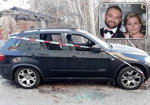 Téměř nové BMW X5 tanečníka Marka Dědíky se nejspíš stalo cílem žháře. Vše vyšetřuje policie.