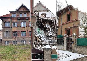 Majitel začal vilu demolovat bez povolení úřadů.
