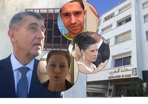 Babiš v Maroku ukázal dům, kde bydlel s rodinou, i klub, kde hrála dcera tenis s princem