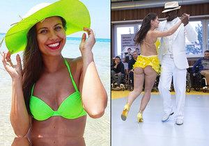 Tanečnice Veronika Lálová vyšpulila při tanci sexy zadeček.