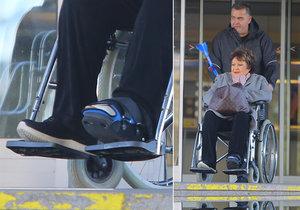 Jiřina Bohdalová skončila na vozíku kvůli úrazu.