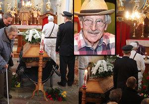 Smutný pohřeb Lubomíra Kostelky (†91): Zapomněli na něj! ČT ani neposlala věnec