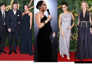 Těhotná vévodkyně Meghan zastínila na British Fashion Awards ostatní světové modelky.