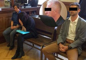 Z nájemné vraždy Františka D. (71) se u soudu zodpovídá jeho žena Eva (38) a její milenec Josef (28). Ten měl seniora shodit ze skály.
