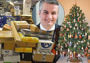 Ředitel České pošty Roman Knap hostem pořadu Epicentrum na téma doručování vánočních dárků Českou poštou.