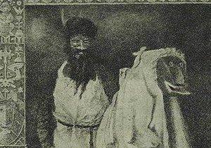 Šperechta v doprovodu Šprechta na malbě z roku 1910.