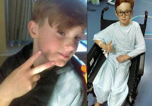 Chlapec (11) oslaví své poslední Vánoce: Lékaři mu dávají půl roku života