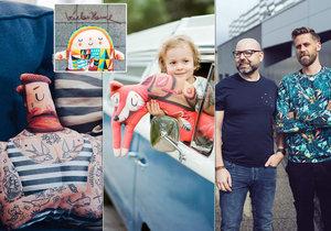 Nejprve obdaroval rodinu, teď celou Prahu. Ilustrátor si svými polštáři získal Dyzajn Market