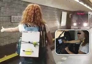 Řidič metra nechal řídit vlak dvě dívky. Podle žalobce nespáchal trestný čin.