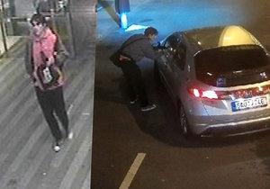 Policisté pátrají po muži, který z auta odcizil dva mobily.