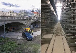 Kolektor pod Hlávkovým mostem je hotov. Hlavní město už jej převzalo do své správy. Rekonstrukci mostu tak nic nestojí v cestě.