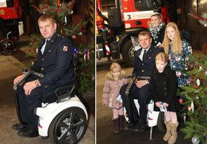 Martin Šabata dostal speciální vozík.