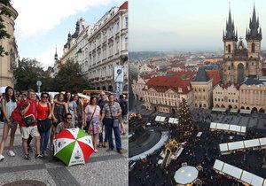 V centru Prahy zuří boj o turisty.