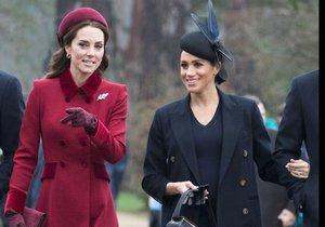 Vévodkyně Kate Middleton s vévodkyní Meghan Markle