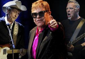Do Prahy v roce 2019 zavítají zvučná jména: Bob Dylan, Elton John, Metallica a mnoho dalších.